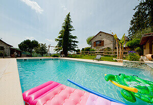 Outdoor swimming pool for family holidays
